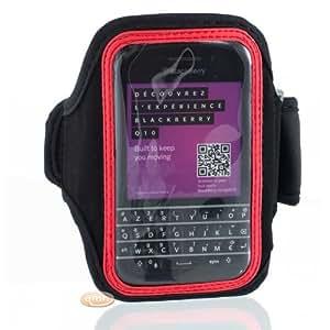 Brassard de sport pour BlackBerry Q10 rouge