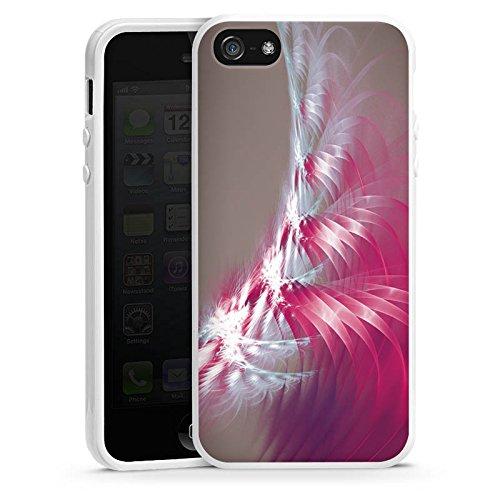 Apple iPhone 5s Housse Étui Protection Coque Motif Motif Lumière Housse en silicone blanc