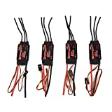 4 X EMAX Simonk 20A Brushless ESC Electronic Speed Controller for DJI plástico black, by LC Prime