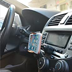 BeFunky 2 in1 Car Mount Universal CD Slot/Air Vent Holder Cradle with 360 Degree Rotation for iPhone and Android Phones