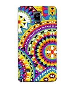 FUSON Designer Back Case Cover for Samsung Galaxy Note 4 :: Samsung Galaxy Note 4 N910G :: Samsung Galaxy Note 4 N910F N910K/N910L/N910S N910C N910Fd N910Fq N910H N910G N910U N910W8 (Best Rangoli Patterns Treditional Photo Wallpapers )
