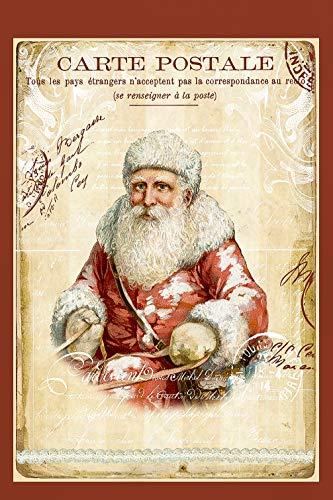 Flags Galore Weihnachts-Postkarte, Motiv: Santa on a Carte, doppelseitig Garden 12x18 Inches beige -