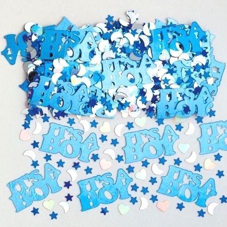 Amscan Konfetti Babyshower Jungen blau