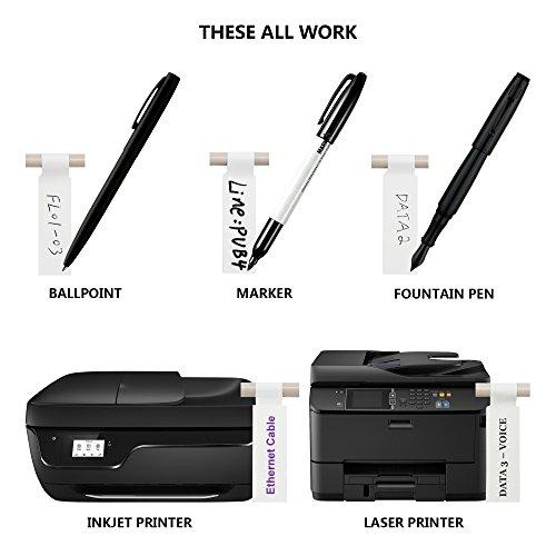 Mr-Label (10 hojas, 300 etiquetas) A4 etiqueta autoadhesiva por cable - con la herramienta gratuita en línea de impresión - Impresión de inyección de tinta (Blanco) (Blanco)