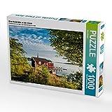 Eine Holzhütte an der Küste 1000 Teile Puzzle quer