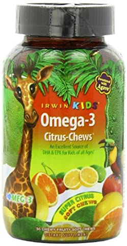 Irwin Naturals - Irwin Kids Omega-3 Chews Citrus 30 Soft Chews