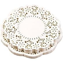 Tapetitos papel encaje pastel empaquetado papel almohadilla color blanco conjunto de 300 piezas