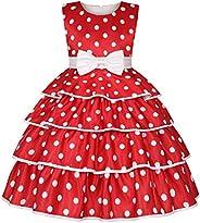 IMEKIS Vestido de princesa con diseño de Minnie a lunares, para Halloween, Navidad, carnaval, cosplay, disfraz