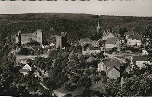 Burg Hohenstein im Taunus. Gasthaus und Pension. Inh. Artur Michel. Alte AK s/w. Ortsansicht, Gebäudeansichten, Panoramablick