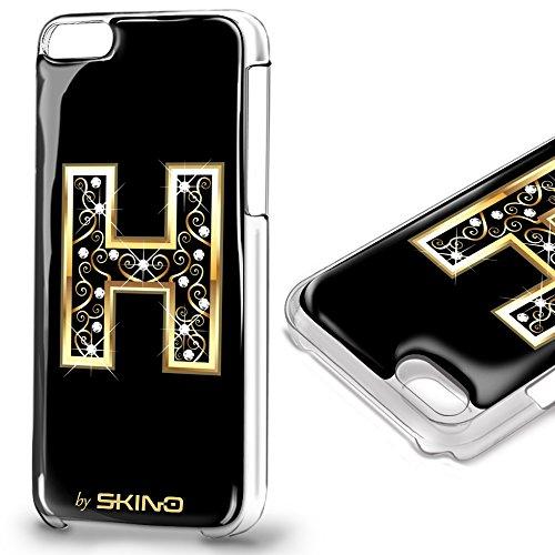 Skino™ Custodia Skin 3D Anti-Gravità Case Cover Resina Gel per iPhone 5 / 5s / 5 SE / 6/6 Plus / 6s / 6s Plus / 7/7 Plus Anti-Scratch Protezione 100% UV Antiscivolo Letter Gold Lettera Doro H (iPhone