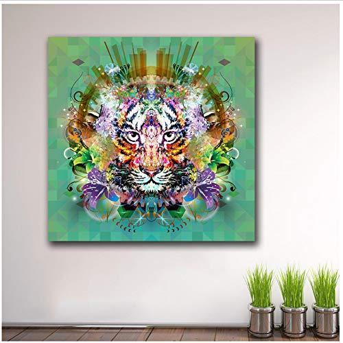 Mode Malerei pop Tier Tiger Paiting Wohnkultur Auf Leinwand Moderne Wandkunst Leinwanddruck Poster Leinwand Malerei 50x50 cm Kein Rahmen