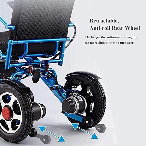 51AH1ZZh4LL - Silla de ruedas eléctrica, nuevo control remoto plegable ligero y ligero Silla de ruedas eléctrica motorizada, Scooter de silla de ruedas eléctrica motorizada ligera plegable y de viaje 2019.