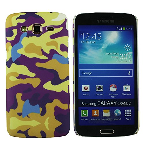 Heartly Army Style Retro Color Armor Hybrid Hard Bumper Back Case Cover For Samsung Galaxy Grand 2 G7106 G7102 - Yellow Field  available at amazon for Rs.149