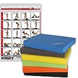 POWRX Balance Pad/Sitzkissen / Kissen Yoga Pilates (Dunkelblau)