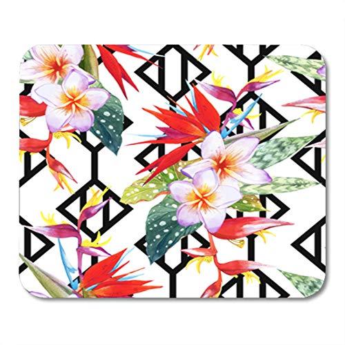 Semtomn Gaming-Mauspad, Ethnische bunte kunstvolles Muster, Mandala, Vintage, indisch, Batik, Persisch, 24,1 x 20,1 cm, Dekoration, Büro, rutschfeste Gummi-Unterseite, Mauspad 9.5