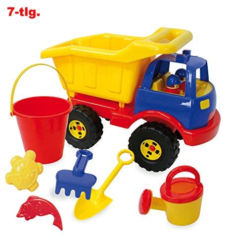 Preisvergleich Produktbild Sandspielzeug, Eimergarnitur Kipper 7-tlg., Spielzeug,Gießkanne,Förmchen,Rechen