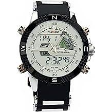 44958dcf8239 PIXNOR Hora Dual WEIDE WH-1104 impermeable de los hombres deportivos LED  Digital reloj de