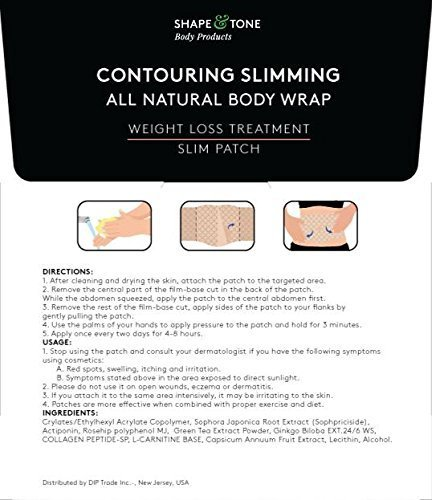 Contouring Slimming All Natural Body Wrap 10 Applications