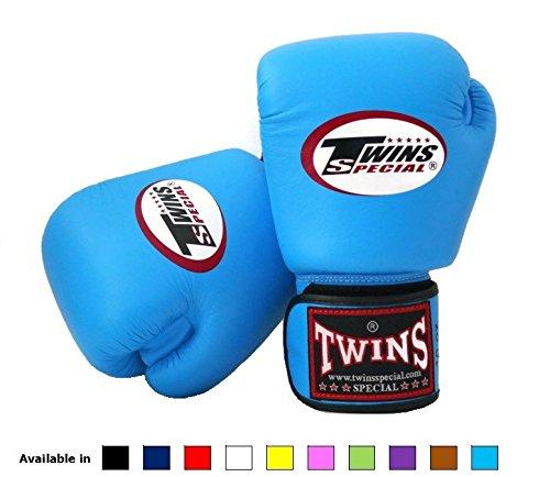 Twins Special Muay Thai Boxhandschuhe BGVL3, verschiedene Farben und Größen, enge Passform, mit Klettverschluss Blau hellblau 283 g (Special Muay Thai Twins)