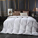 SBD Antiallergisch Bettwäsche Wendebett Leichte Daunendecke Weiche Daunendecke Alternative All Seasons Duvet Insert with-Weiß_König daunendecke 200x215 schwer