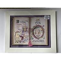 Tidybirds Hermoso soporte de cuento de hadas Princess Ava enmarcado en impresionante marco blanco