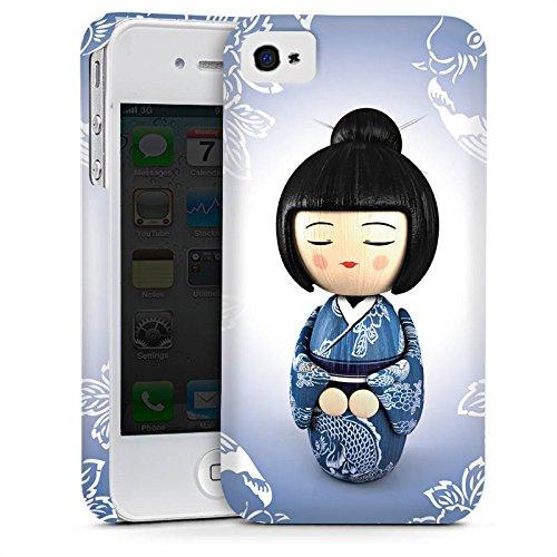 Apple iPhone 5 Housse étui coque protection Koi Kokeshi Poupée Asie Cas Premium mat