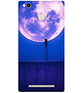 Moon Printed Back Cover for redmi 3s prime
