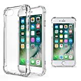 Moozy Coque Silicone Transparente pour iPhone 5s / iPhone Se - Anti Choc Crystal Clear Case Cover Étui de Flexible Souple TPU