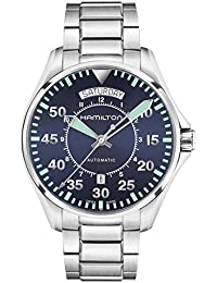 Hombre HAMILTON Caqui Aviación Piloto Automático Día Fecha Reloj h64615145