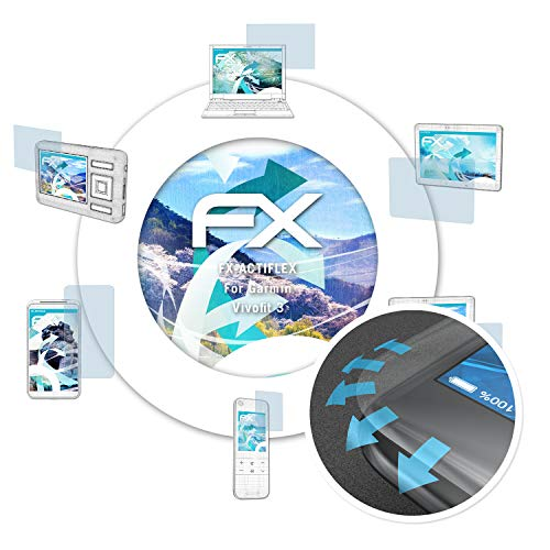 atFoliX Schutzfolie passend für Garmin Vivofit 3 Folie, ultraklare & Flexible FX Bildschirmschutzfolie (3X)
