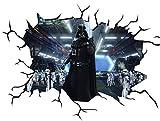 Chicbanners Star Wars Darth Vader V100Wall Crack Smash Wandtattoo Selbstklebende Poster Wall Art Größe 1000mm breit x 600mm tief (groß)