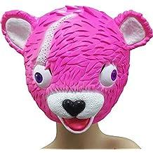 Aisence - Máscara de látex para disfraz de Halloween, diseño de oso rosa, disfraz