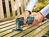 Bosch DIY Multifunktionswerkzeug PMF 250 CES Set, 4 Sägeblätter, Schleifplatte, Schleifpapierset, Hartschaber, Multimesser, 4-stufiger Tiefenanschlag, Staubsauger-Adapter, Koffer (250 W) Vergleich
