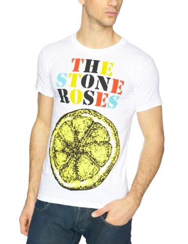 Men's The Stone Roses Lemon Logo T-shirt, White - S to XXXL