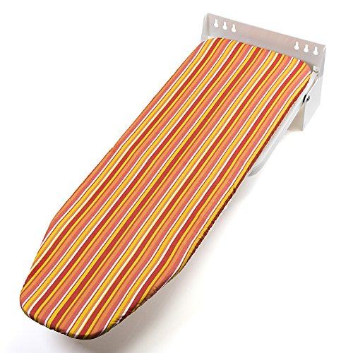 SO-TECH® Bügelbrett Ironfold Premium Bügeltisch für Wandmontage Klappbar Klapptisch drehbar Bunte Streifen