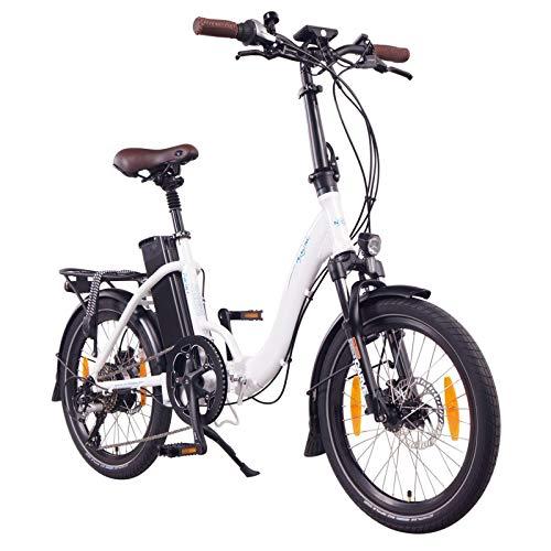 NCM Paris+ Bicicleta eléctrica Plegable, 250W, Batería 36V 19Ah • 684Wh (Blanco +)