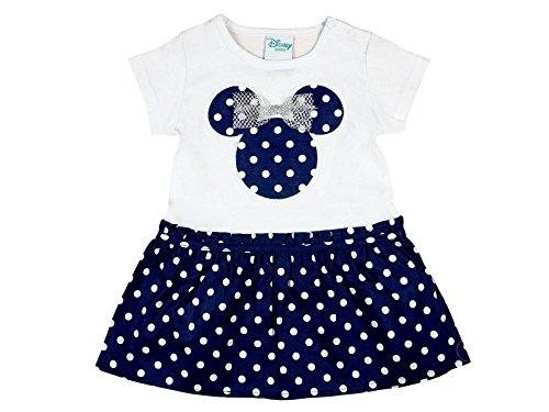 Disney - Minnie Mouse Baby- / Mädchen-Kleid in GRÖSSE 74, 80, 86, 92, 98, 104, leicht und locker an der Taille, KURZ-ARM, ideales Strand-Kleid, Freizeit-Kleid oder Sommer-Kleid Größe - Minnie Standard Kostüm