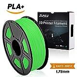 SUNLU3D Drucker Filament PLA Plus Grün (mehr wie Gras), PLA Plus Filament 1,75 mm, geringer Geruch Dimensionsgenauigkeit +/- 0,02 mm 3D Druck Filament, 2,2 LBS (1kg) Spool 3D Drucker Filament für 3D Drucker & 3D Stifte, grün (mehr wie Gras)