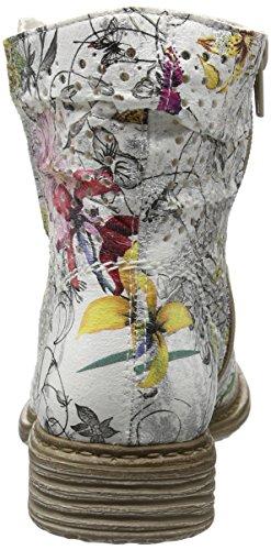 Rieker Z2156, Bottes Classiques Femme Blanc (ice-multi / 90)