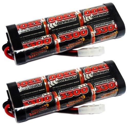 Overlander 2 x 3300mah 7.2v Nimh Battery Pack Stick SubC - Tamiya RC Car