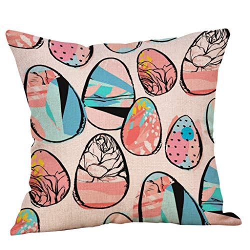 orationen Kissenhülle Baumwolle und Leinen Pflanzen Tagesdecke Kissenbezug Quadratisch Hull Haus Sofa Bezug 45x45cm, Flax, Multicolor2, ✿ ()