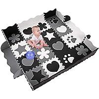 Profun Alfombra de Puzzle Alfombra Infantil de Goma EVA 36/40pcs Desmontables Manta de Actividades