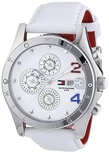 Reloj Tommy Hilfiger de mujer de cuarzo, correa de piel color blanco