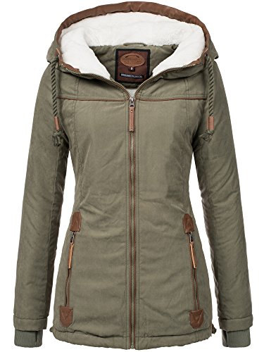 Urban Surface Damen Winter Jacke 44333A Grün XL