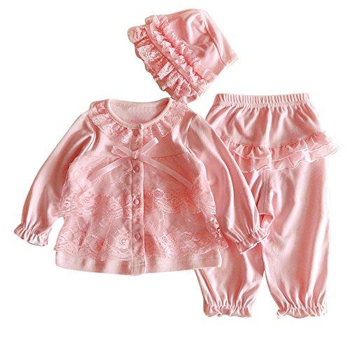 Oyedens Baby Mädchen Kleidung Blumen Bedruckte Hoodie + Hosen Warm Kapuzenpulli Baby, Baby-Bogenspitze Strickjacke Anzughose Hut