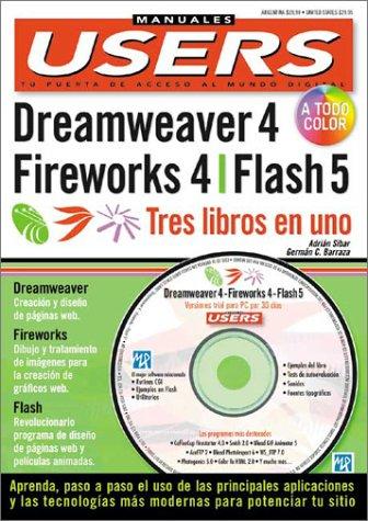 Dreamweaver 4, Fireworks 4 Y (Manuales Users) por Sibar a