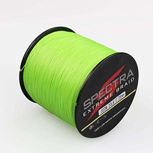 Spectra Extreme Braid Geflochtene Angelschnur 6–Wasserfarben Test 100m-2000m fluoreszierend grün 100m/109Yards 30lb/0.26mm 60 Lb Braid Angelschnur