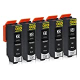 5 Druckerpatronen kompatibel zu Epson 33-XL (Schwarz) passend für Epson Expression Premium XP-530 XP-540 XP-630 XP-635 XP-640 XP-645 XP-830 XP-900