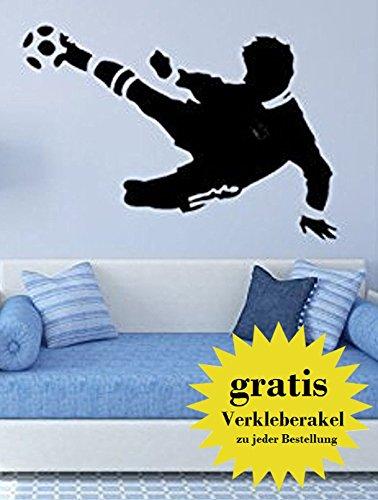 sticker mural footballer noir - Made in Germany -...