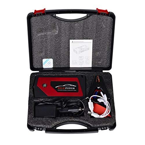 Notfall-licht-kit (Monllack 12 V 8000 mah Multifunktionsauto-ladegerät Batterie Starthilfe 4USB LED-Licht Auto Notfall Mobile Power Bank Tool Kit)